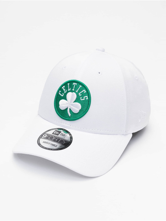 New Era Casquette Snapback & Strapback NBA Boston Celtics Shadow Tech 9forty blanc