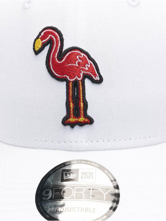 New Era Casquette Snapback & Strapback Minor League Miami Beach Flamingos Patch 9Forty blanc