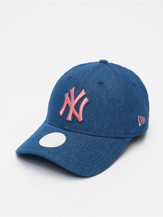 New Era Casquette Snapback & Strapback MLB New York Yankees Womens Wash Denim 9Forty bleu
