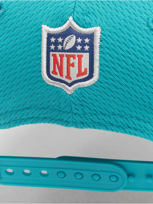 New Era Casquette Snapback & Strapback NFL Miami Dolphins Sideline Road 9Fifty turquoise