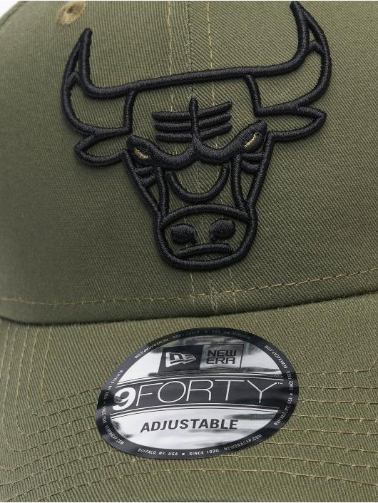 New Era Casquette Snapback & Strapback NBA Chicago Bulls Eshortsleeve Outline 9forty vert