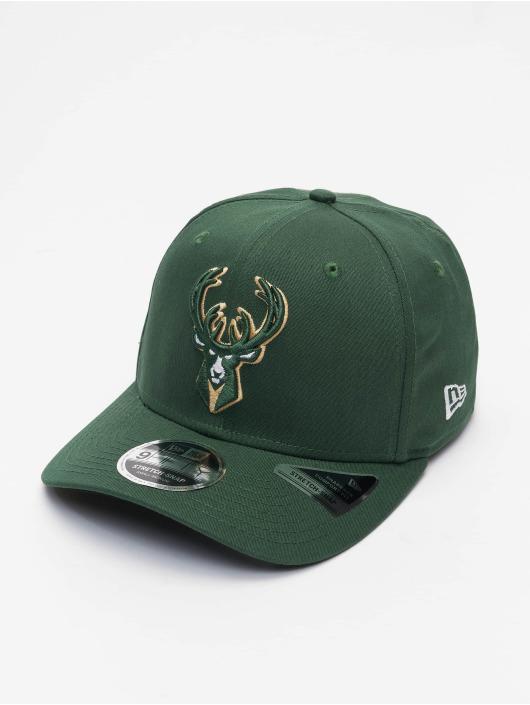 New Era Casquette Snapback & Strapback NBA Milwaukee Bucks Team Colour 9Fifty Stretch vert