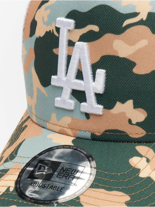 New Era Casquette Trucker mesh MLB Los Angeles Dodgers Camo 9forty A-Frame beige