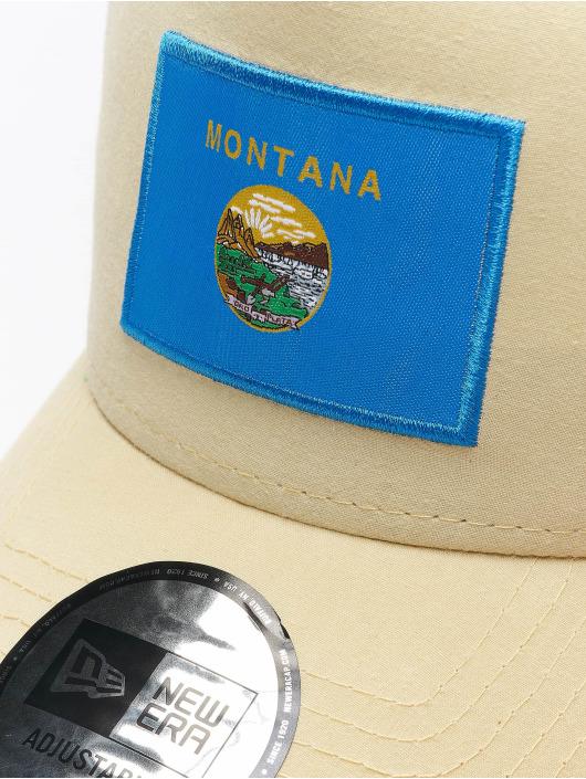 New Era Casquette Trucker mesh US State beige