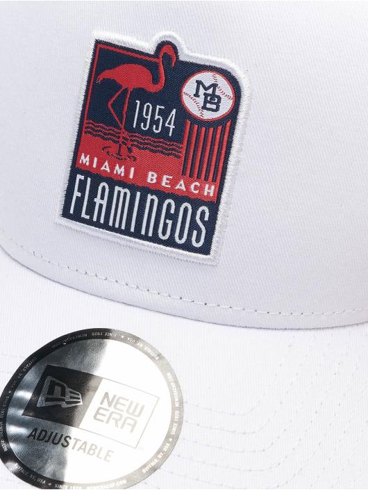 New Era Casquette Trucker mesh Minor League Miami Beach Flamingos Patch 9Forty blanc