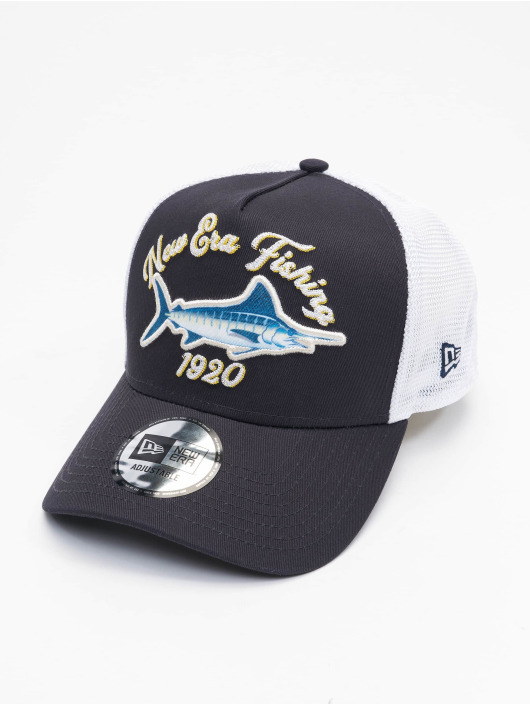 New Era Casquette Trucker mesh NE Fishing bleu