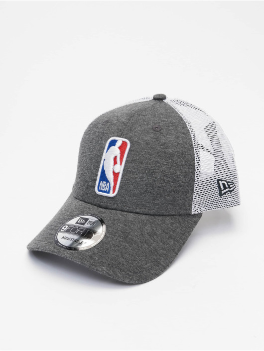New Era Casquette Trucker mesh NBA Logo Home Field 9Forty gris