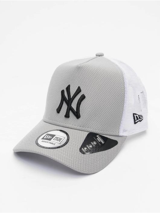 New Era Casquette Trucker mesh MLB New York Yankees Diamond Era gris