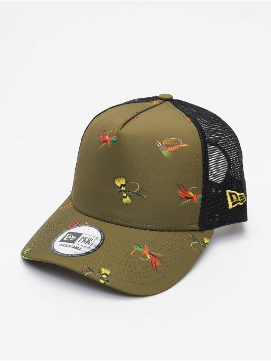 New Era Casquette Trucker mesh All Over Print Fishing 9Forty AF olive