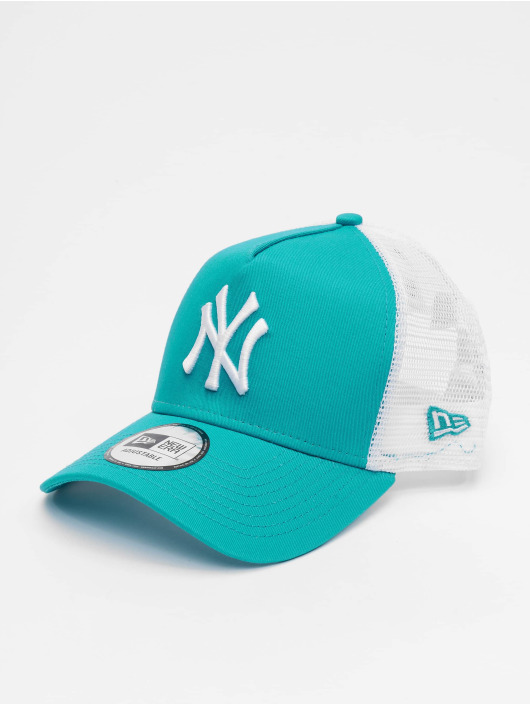 49998f94c9454 New Era Casquette Trucker mesh MLB New York Yankees League Essential 9forty  A-Frame turquoise