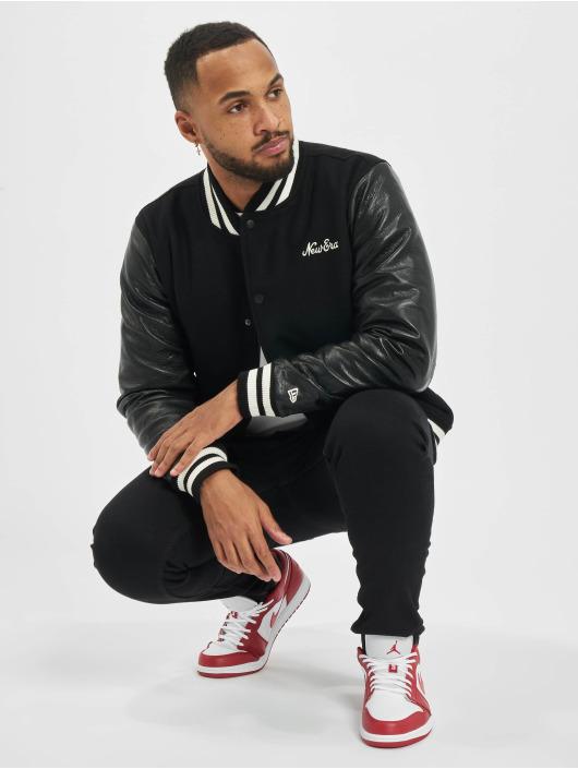 New Era College Jacket Image Varsity black