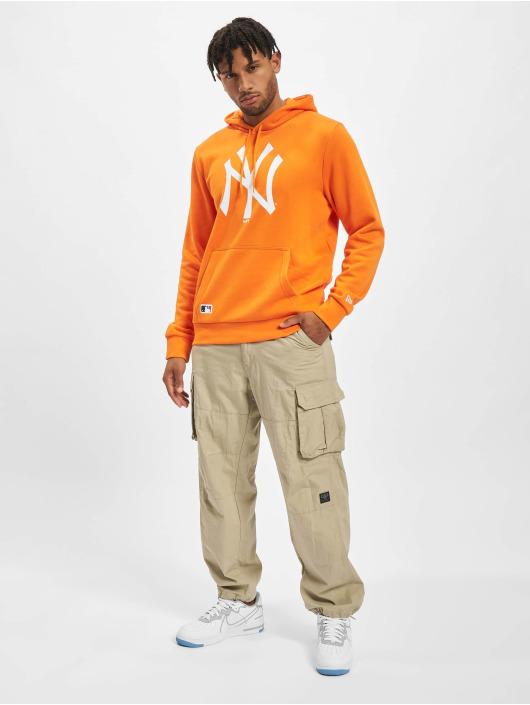 New Era Felpa con cappuccio MLB New York Yankees Seasonal Team Logo arancio