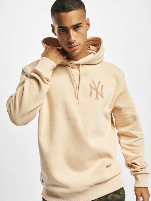 New Era Felpa con cappuccio MLB NY Yankees Oversized Seasonal Color beige