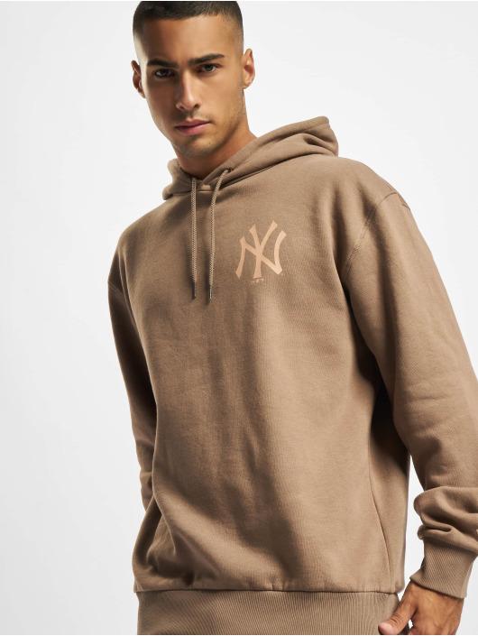 New Era Felpa con cappuccio MLB NY Yankees Oversized Seasonal Color marrone