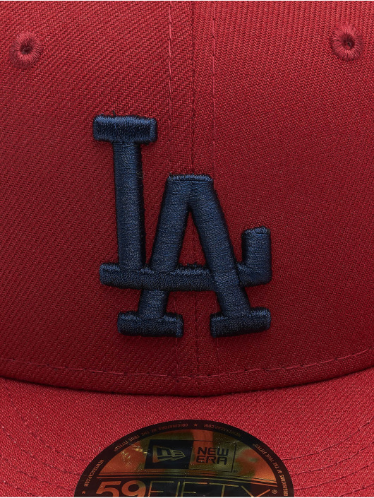 New Era Fitted Cap MLB Los Angeles Dodgers League Essential 59Fifty èervená