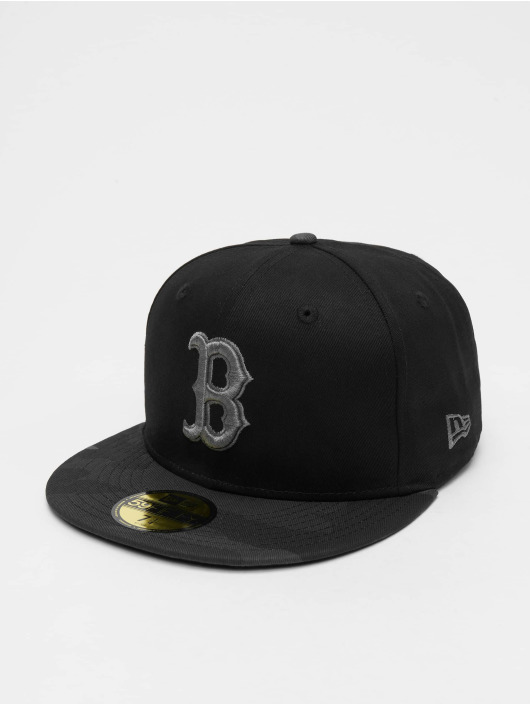 New Era Fitted Cap MLB Camo Essential Bosten Red Sox èierna