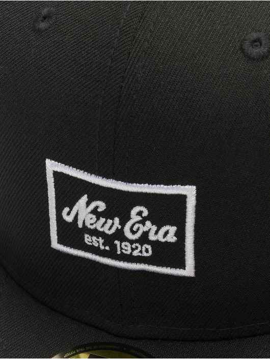 New Era Fitted Cap Patch 59Fifty èierna