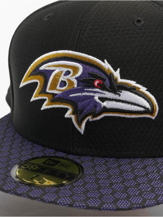 New Era Fitted Cap NFL Baltimore Ravens On Field Draft NFL17 59Fifty èierna