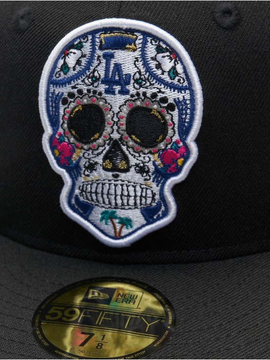 New Era Fitted Cap Era MLB Los Angeles Dodgers Sugar Skull 59Fifty čern