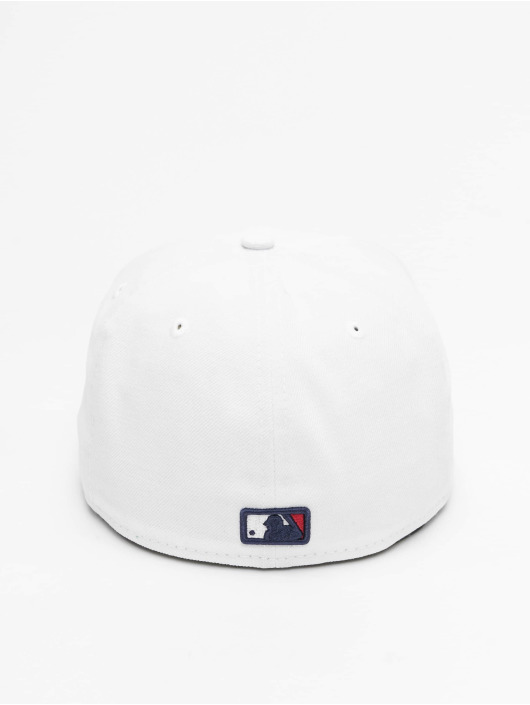 New Era Fitted Cap White Top Team Cleveland Indians bialy