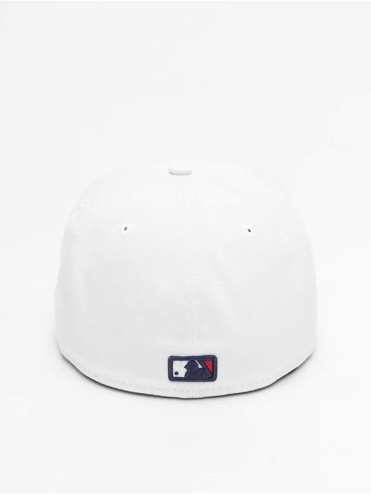 New Era Fitted Cap White Top Team Cleveland Indians biela