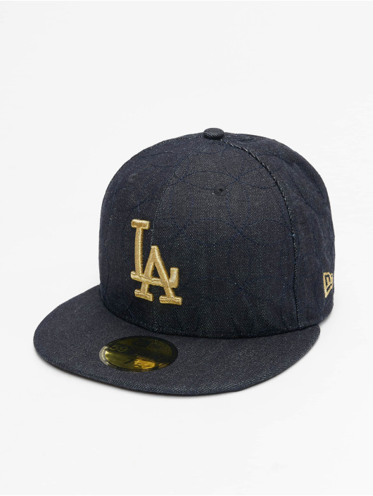New Era Fitted Cap Denim Quilt LA Dodgers blå