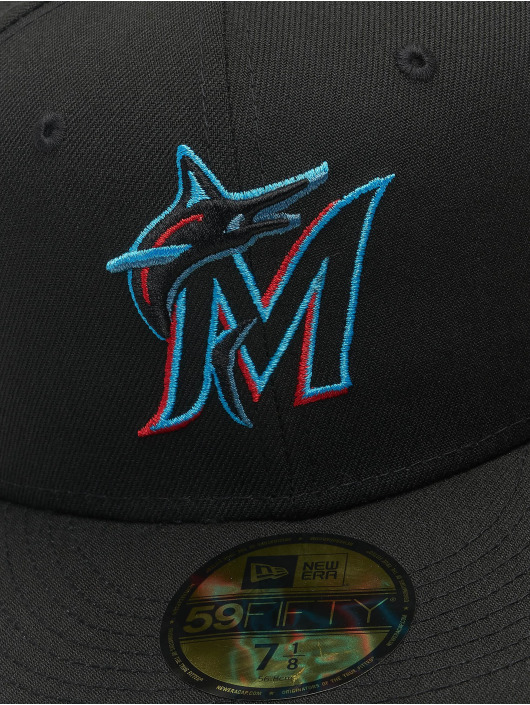 New Era Fitted Cap MLB Miami Marlins ACPERF black