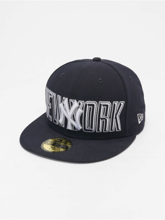 New Era Fitted Cap Bevel Pitch NY Yankees 59Fify blau