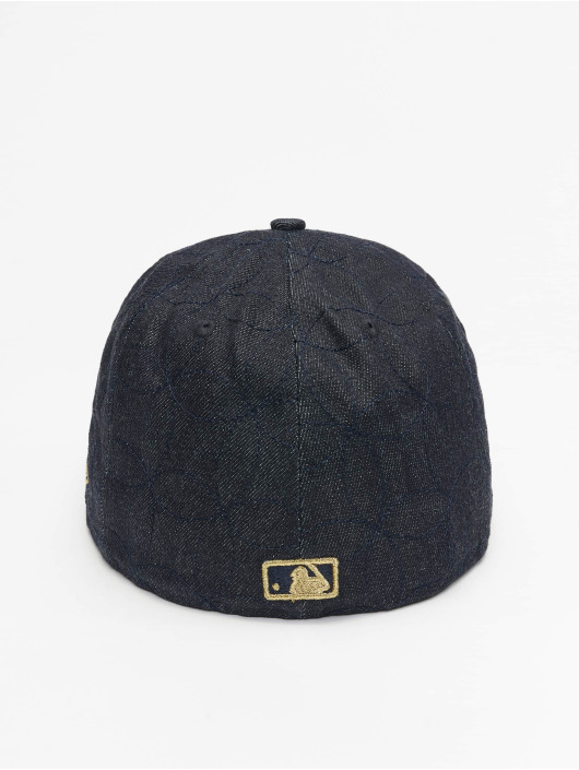 New Era Fitted Cap Denim Quilt LA Dodgers blauw