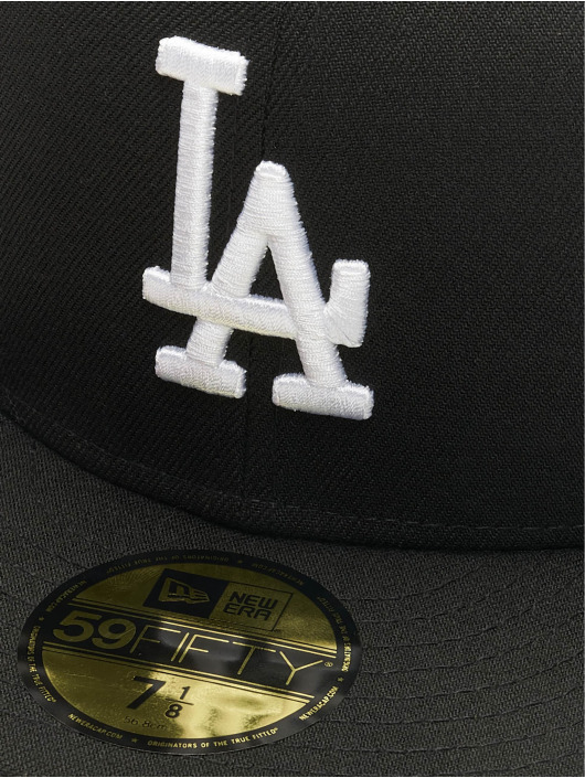New Era Fitted Cap MLB Basic LA Dodgers 59Fifty czarny