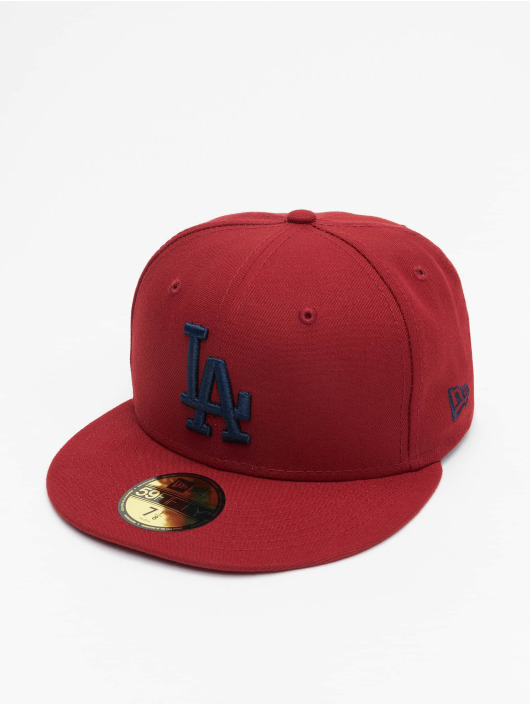 New Era Fitted Cap MLB Los Angeles Dodgers League Essential 59Fifty czerwony
