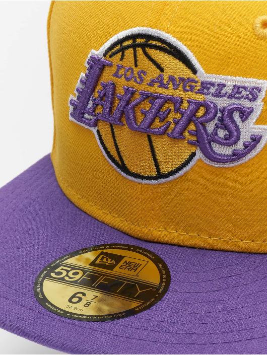 New Era Fitted Cap NBA Basic LA Lakers 59Fifty gelb