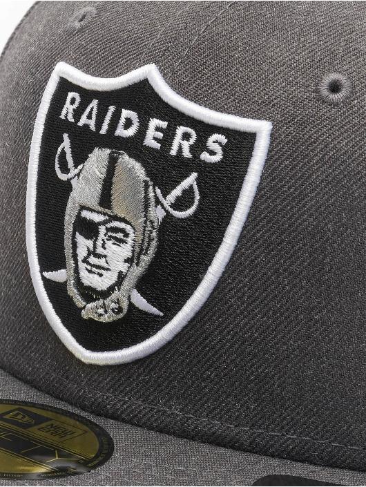 New Era Fitted Cap NFL Oakland Raiders Essential 59Fifty grau