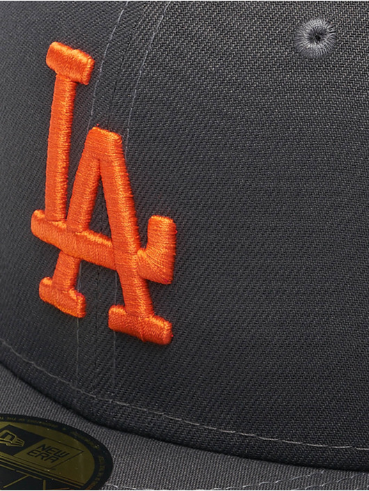 New Era Fitted Cap MLB LA Dodgers League Essential 59Fifty gray