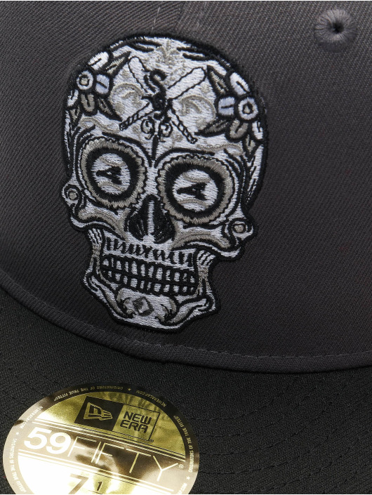 New Era Fitted Cap MLB Chicago White Sox Candy Skull 59Fifty grey
