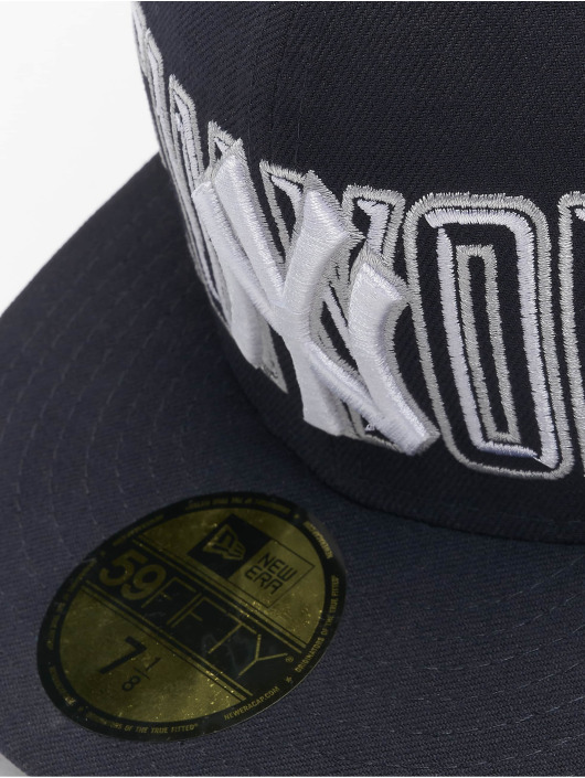 New Era Fitted Cap Bevel Pitch NY Yankees 59Fify modrá