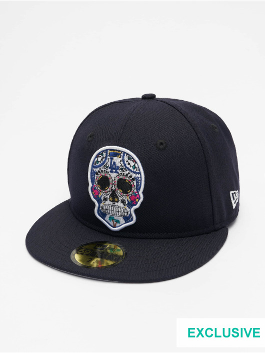 New Era Fitted Cap MLB Los Angeles Dodgers Sugar Skull 59Fifty modrý
