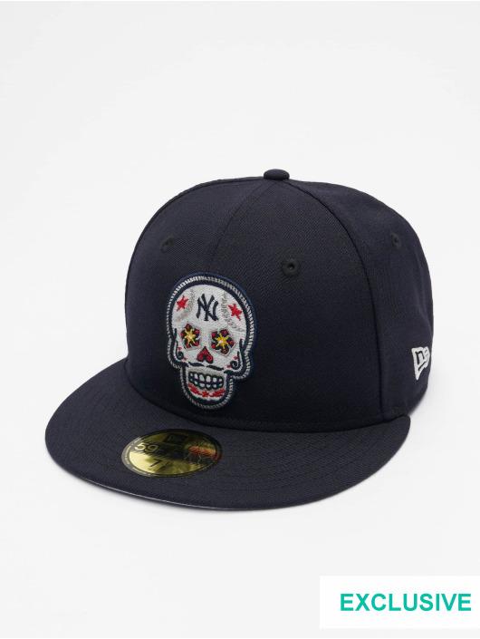 New Era Fitted Cap MLB New York Yankees Skull 59Fifty modrý