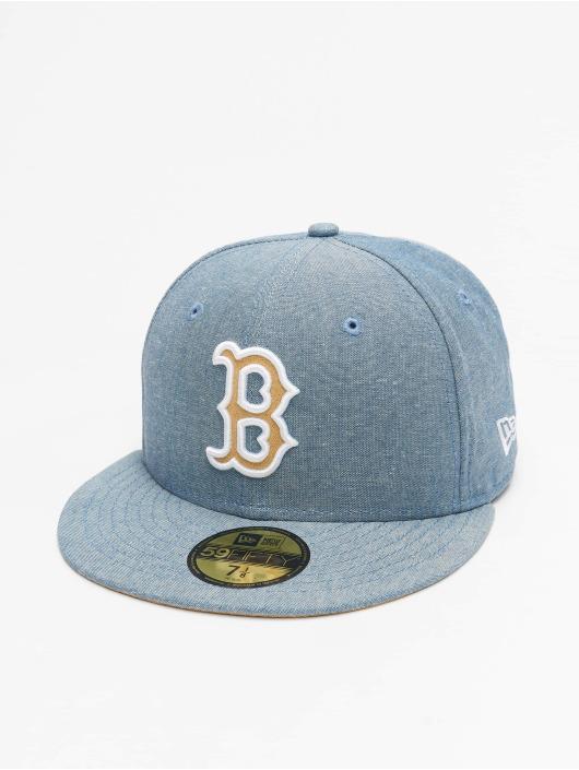 New Era Fitted Cap Chamsuede Boston Red Sox niebieski