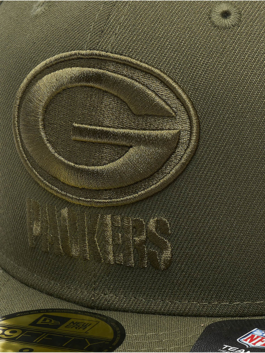 New Era Fitted Cap NFL Green Bay Packers Poly Tone 59fifty olijfgroen