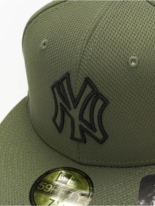 New Era Fitted Cap MLB NY Yankees Diamond Era Essential 59Fifty olivová