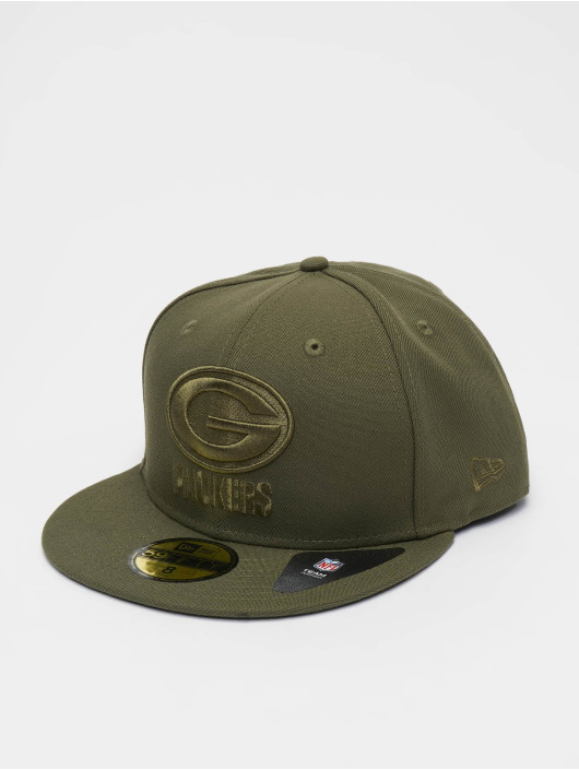 New Era Fitted Cap NFL Green Bay Packers Poly Tone 59fifty oliwkowy