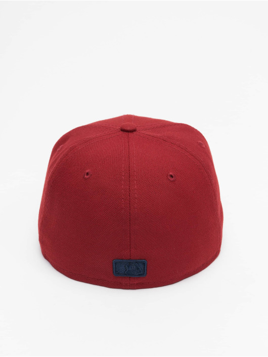 New Era Fitted Cap MLB Los Angeles Dodgers League Essential 59Fifty rød