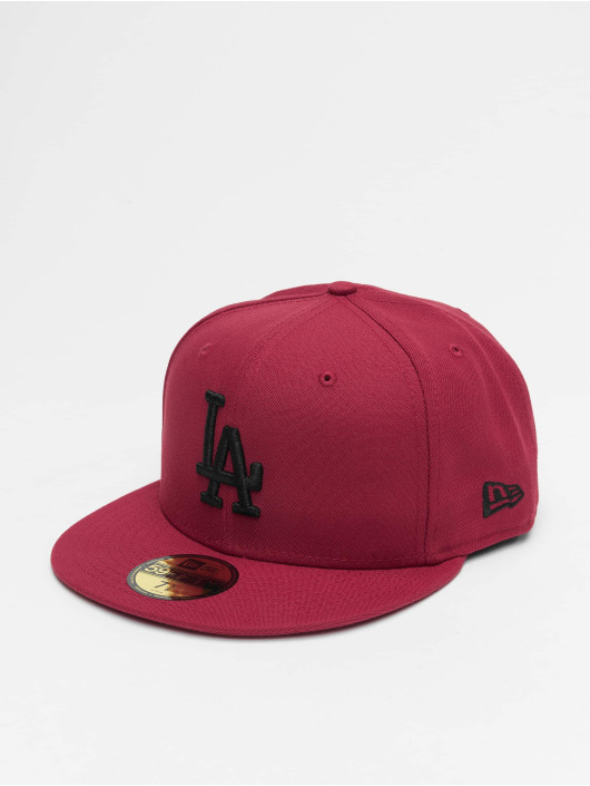 New Era Fitted Cap MLB LA Dodgers League Essential 59Fifty red