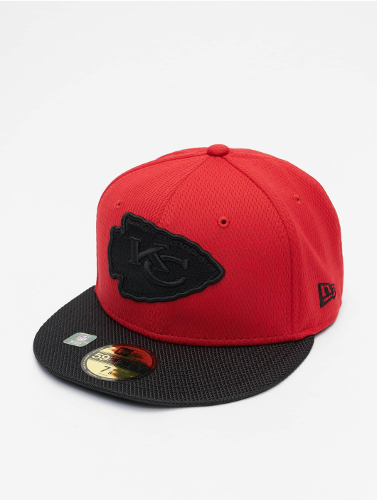 New Era Fitted Cap NFL Kansas City Chiefs Sideline Road 59Fifty rosso