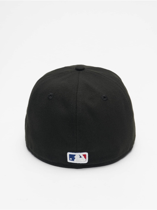 New Era Fitted Cap Los Angeles Dodgers Skull Poly 59Fifty schwarz