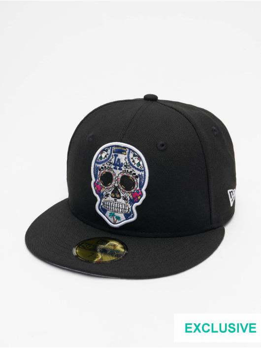New Era Fitted Cap Era MLB Los Angeles Dodgers Sugar Skull 59Fifty svart