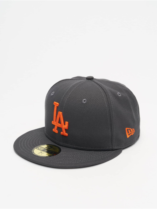 New Era Fitted Cap MLB LA Dodgers League Essential 59Fifty szary