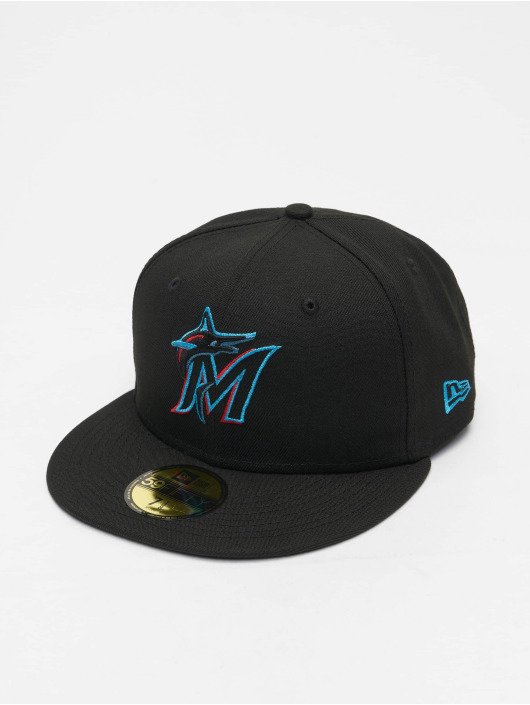 New Era Fitted Cap MLB Miami Marlins ACPERF zwart