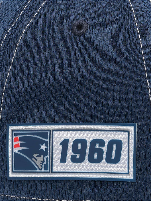New Era Flexfitted Cap NFL New England Patriots Onfield Road 39Thirty blu